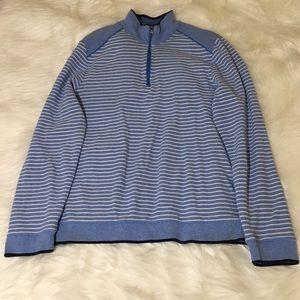Boss Hugo Boss Men's Blue Stripe Zip Sweater!